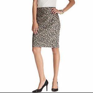 Ann Taylor Loft leopard pencil skirt